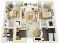 mobile home floor plans 3d - Google Search
