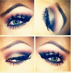Chic look for blue-green eyes.