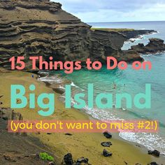 15 Things to Do on the Big Island The very best things to do the Big Island of Hawaii including Volcano National Park, the green sand beach, and touring a coffee plantation Hawaii Honeymoon, Hawaii Vacation, Hawaii Travel, Travel Usa, Hawaii Hotels, Aloha Travel, Honeymoon Vacations, Ski Vacation, Vacation Ideas