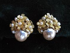 Miriam Haskell  Baroque Pearl Earrings