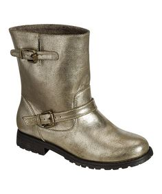 Every woman needs a go-to boot. This pair pulls on and off, making getting out the door a snap. The buckle accents add a hint of flair to an already stylish shoe. Gold Boots, Biker, Bamboo, Shoes, Fashion, Moda, Zapatos, Shoes Outlet, Fashion Styles