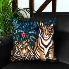 Tiger Territory Velvet Cushion