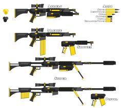 Fool's Gold (RWBY style gun) by Blaze-Drag.deviantart.com on @DeviantArt