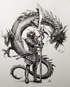 Tattoo Designs Dragon Fantasy Art 56 Ideas For 2019 Samurai Tattoo, Ronin Tattoo, Japanese Tattoo Art, Japanese Art, Body Art Tattoos, Sleeve Tattoos, Ronin Samurai, Samurai Artwork, Samurai Drawing