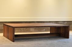 Large Walnut coffee table - modern - coffee tables - vancouver - by ThankU.ca (want!)