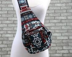 Log in to your Etsy account. Sling Backpack Purse, Small Backpack, Phone Holster, Edm Festival, Tribal Style, Tribal Fashion, Aztec, Backpacks, Purses