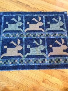 Quilt for Ethan Antony Partridge - memory quilt.  Bunnies are made from his grandfather, Randy Hellert's, shirts.
