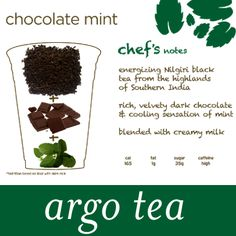 Chocolate Mint - Get a double boost of free-radical fighting antioxidants from both dark chocolate and tea!