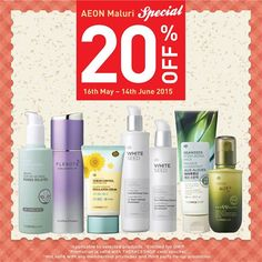 16 May-14 Jun 2015: The Face Shop AEOn Maluri Special Promotion