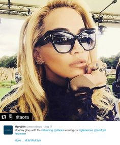 68d7852530f Rita Ora from her Instagram wearing Tom Ford Suns