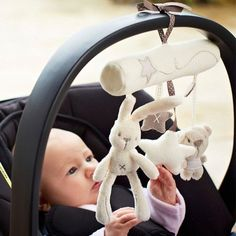 New Cradle Toy Hanging Rattle Baby Plush Soft Toy Rabbit Musical Mobile Products