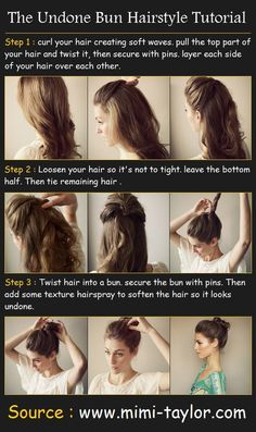 The Undone Bun Hairstyle....I like it up until you put it in the bun.
