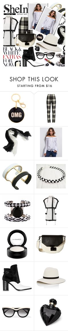 """""""***Off The Shoulder Blouse*** with Shein"""" by anin-kutak ❤ liked on Polyvore featuring MaxMara, Sofia Cashmere, Vince Camuto, Forest of Chintz, Balmain, MAC Cosmetics, Rebecca Minkoff, Alexander Wang, Janessa Leone and STELLA McCARTNEY"""