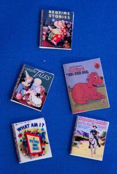 Dollhouse Miniature, Nursery, Children, Doll, Book, Game, School, Baby. $10.00, via Etsy.