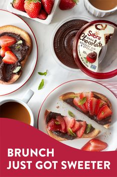 Toast your choice of bread and transfer to two plates. Then, swirl half of Sabra Chocolate Hummus on each slice of toast with the back of a spoon and top each with half of the strawberries. You may add fresh mint leaves and/or chocolate shavings. Snacks For Work, Healthy Work Snacks, Helathy Food, Whole Food Recipes, Vegan Recipes, Chocolate Hummus, Kid Desserts, Food Cravings, I Love Food