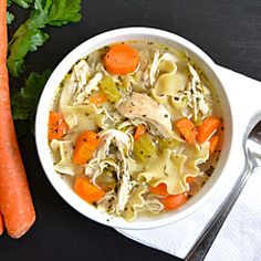 Easy Chicken Noodle Soup from scratch, for beginners. But without the chicken and made with veggie broth