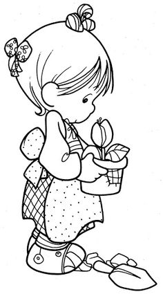 Precious Moments coloring pages Coloring Pages To Print, Coloring Book Pages, Printable Coloring Pages, Coloring Pages For Kids, Kids Coloring, Colorful Drawings, Colorful Pictures, Precious Moments Coloring Pages, Copics
