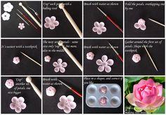 Fondant Tutorial for Lotus Flower