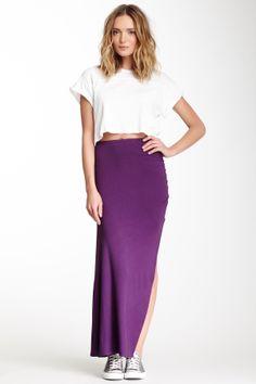 Side Shirred Skirt