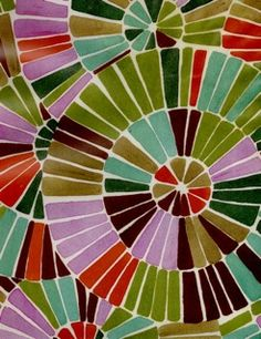 Could do this as a lesson in radial design and color, using a compass, white crayon, and watercolors.