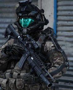 Off On A Comet - Sci-Fi, Fantasy Art, Cyberpunk, and Comics Futuristic Armour, Futuristic Art, Armor Concept, Concept Art, Neo Japan 2202, Sci Fi Armor, Future Soldier, Suit Of Armor, Military Gear