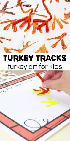 How to Easily Make Turkey Tracks Turkey Art with Kids
