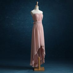 2016 Dusty Rose Bridesmaid dress High-low Wedding by harsuccthing