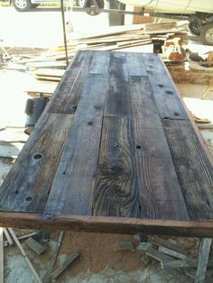 A Reclaimed Barn Wood Breakfast Bar With A Different Material For The  Counter Top. Description