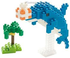 nanoblock - Post Card (Dolphine) Gift