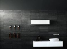 FOR AJ Stacked Boffi kitchens – bathrooms - systems Contemporary Bathrooms, Modern Bathroom, Small Bathroom, Dream Bathrooms, Master Bathroom, Stone Bathroom, Bathroom Taps, Washroom, Relaxing Bathroom