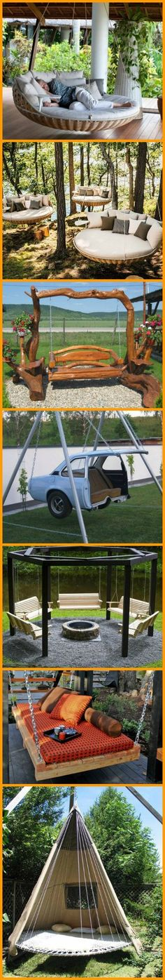 Once you're done with this album of swings, you'll want one in your backyard! http://theownerbuildernetwork.co/swings/