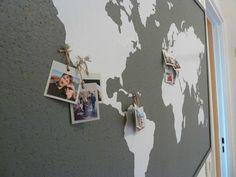 Coin bureau: tableau carte du monde