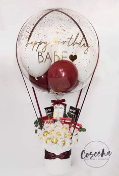 Personalised Gifts Diy, Personalized Balloons, Custom Balloons, Balloon Arrangements, Balloon Decorations, Valentine Decorations, Valentine Crafts, Valentines Balloons, Birthday Balloons