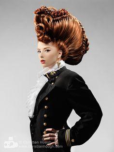 Avant garde hair by Christian Hough.