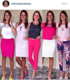 Look de trabalho look de verão - work outfit - look executiva - moda corporativa - blazer - saia lápis - pink - rosa