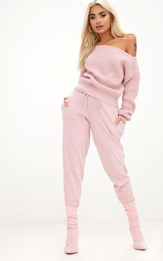 53075a2233a SheIn(sheinside) Off Shoulder Distressed Sweatshirt Jumpsuit ( 18 ...