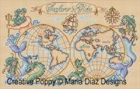 Maria Diaz - Seafarer's globe  (cross stitch chart)