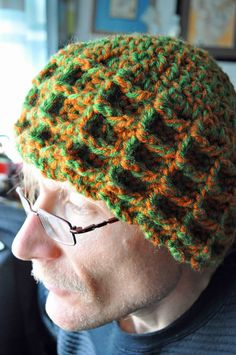 Free Crochet Waffle Stitch Winter Hat Pattern