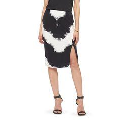 Chevron Pencil Skirt Black/White - Mossimo