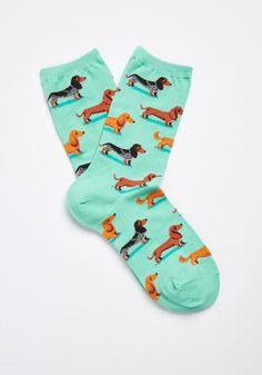 Sausage Dog Socks Dachshund Dogs Blue Ladies Girls Christmas Novelty Gift 1 Pair