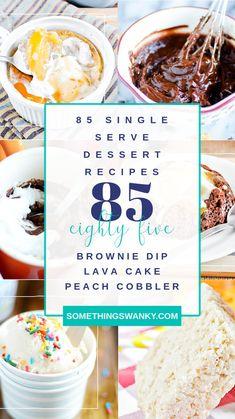 Single Serve Desserts, Mini Desserts, Just Desserts, Low Calorie Desserts, Healthy Desserts, Delicious Desserts, Mug Recipes, Cookie Recipes, Dessert Recipes