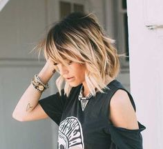 Love this cut. Not sure if my fine hair would look as good. Love this cut. Not sure if my fine hair would look as good. Love this cut. Not sure if my fine hair would look as good. Medium Hair Cuts, Medium Length Ombre Hair, Medium Choppy Hair, Shoulder Length Balayage, Medium Bobs, Choppy Cut, Medium Length Bobs, Medium Cut, Medium Blonde