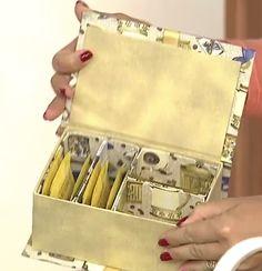 Blog Claudia Tenório: Faça uma linda caixa porta chá, em cartonagem