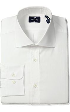 Façonnable Men's Faconnable Club Fit Dress Shirt Regular Length, White, 41 ❤ Faconnable Men's Sportswear