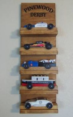 pinewood derby display shelf