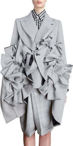 Comme des Garcons Houndstooth Multi Bow Jacket at Barneys.com