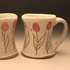 something about handmade pottery mugs that make me want to settle down with a hot cup of tea...or even better...hot chocolate (which, by the way is still yummy during the summer months)