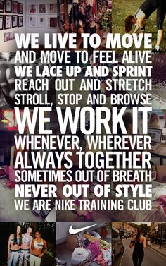 Welcome to Nike Training Club. #performance #style