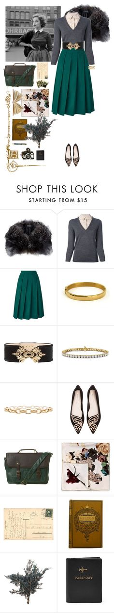"""""""Lady on the Town"""" by a-romantic-at-oxford ❤ liked on Polyvore featuring Harrods, Tory Burch, Balmain, Sophia Webster, Topman, Valentino, Fountain and FOSSIL"""