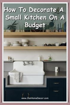 Space and good design aren't exclusive to a large kitchen. Here are some small kitchen decorating ideas that keep yours organized and functional. Minimalist Kitchen Cabinets, Galley Kitchen Design, Small Galley Kitchens, Simple Kitchen Design, Small Space Kitchen, Kitchen On A Budget, Small Spaces, Small Apartments, Galley Wall